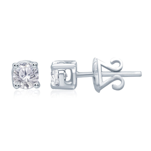 White Gold White Diamond Eternal Stud Earrings