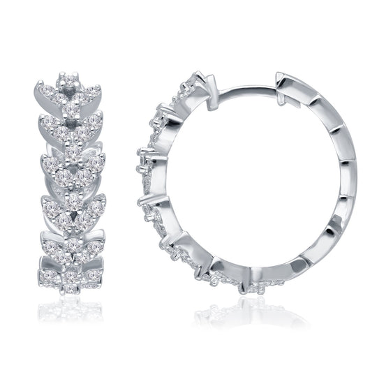 White Gold Diamond Eternal Hoop Earrings