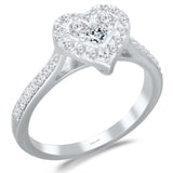 White Gold Diamond Eternal Heart Ring