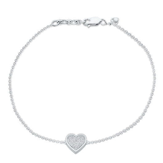 White Gold Diamond Eternal Heart Bracelet