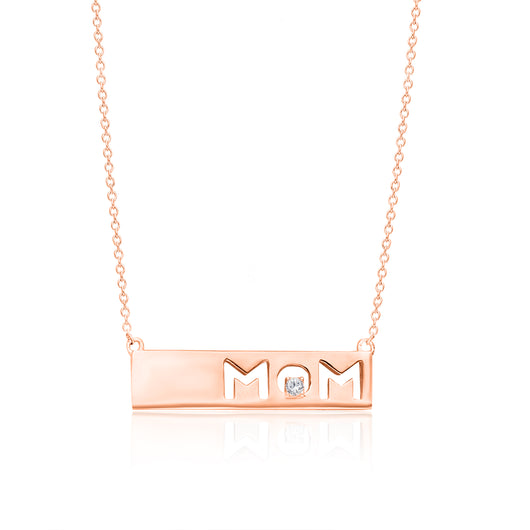 Rose Gold Diamond Eternal Mom Necklace
