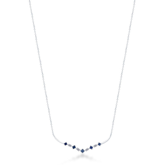 White Gold Sapphire & Diamond Legendary Necklace
