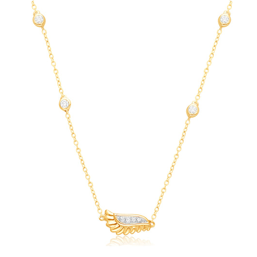Yellow Gold White Diamond Griffiness Necklace