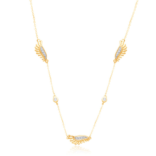 Yellow Gold Diamond Griffiness Necklace
