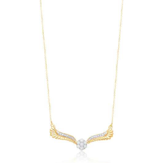 Yellow Gold White Diamonds Griffiness Necklace