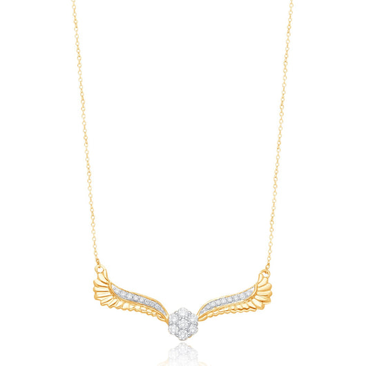 Yellow Gold Diamonds Griffiness Necklace