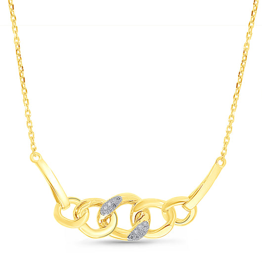 Yellow Gold Diamond Eternal Necklace