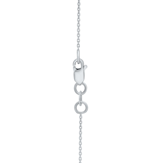 White Gold Blue Diamond Eternal Necklace