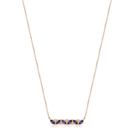Rose Gold Sapphire & DiamondHeirloom Necklace