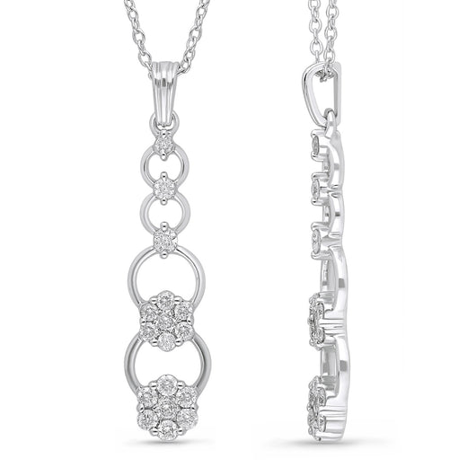 White Gold Diamond Eternal Pendant