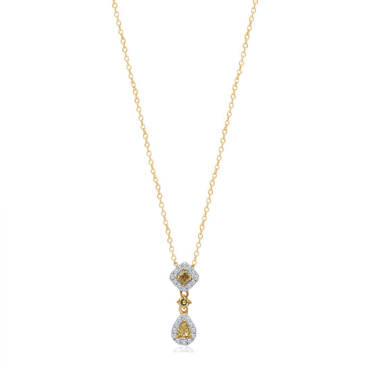 Yellow Gold Yellow & White Diamond Eternal Pendant
