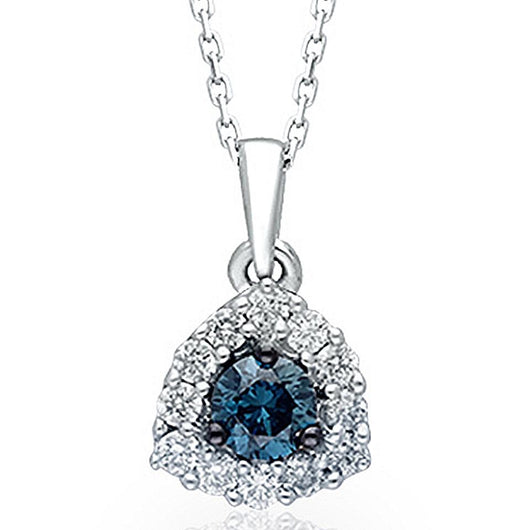 White Gold Blue & White Diamond Eternal Pendant