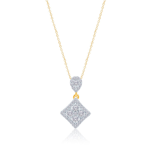 Yellow Gold Diamond Eternal Pendant