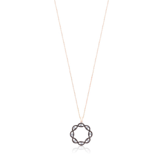 Rose Gold Coco & White Diamond Eternal Pendant