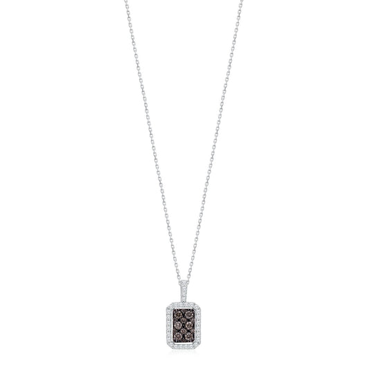 White Gold Coco & White Diamond Eternal Pendant
