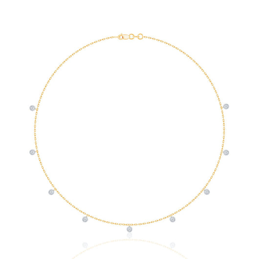 Two Tone Gold Diamond Eternal Necklace