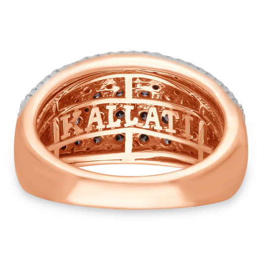 Rose Gold Coco & White Diamond Eternal Ring