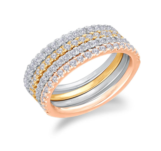 Tri Tone Gold Diamond Eternal Ring