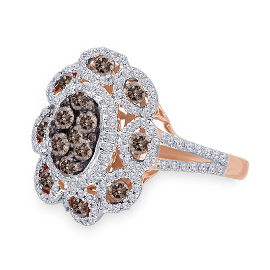 Rose Gold Coco & White Diamond Infinite Ring