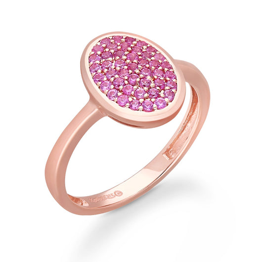 Rose Gold Pink Sapphire Heirloom Ring