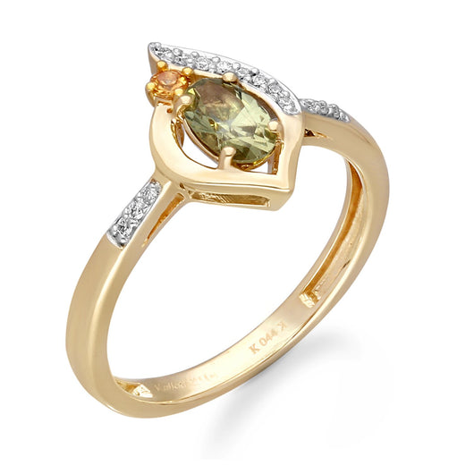 Yellow Gold Yellow Sapphire & Diamond Heirloom Ring