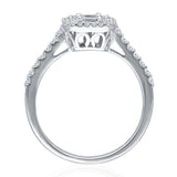 Kallati Legendary Cushion Shape Diamond Engagement Ring in 14K White Gold