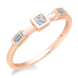 Rose Gold Diamond Legendary Ring
