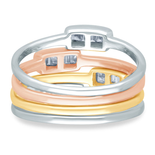 Tri Color Gold Diamond Legendary Ring