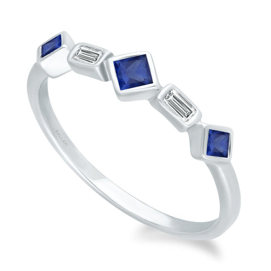 White Gold Sapphire & Diamond Legendary Ring