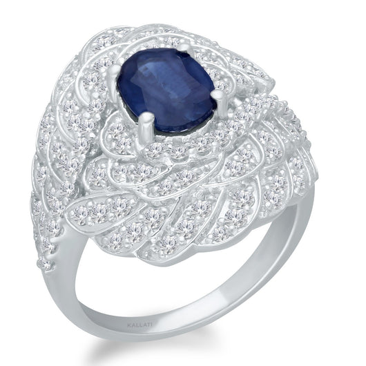 White Gold Sapphire & Diamond Griffiness Ring