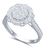 Kallati Eternal Diamond Engagement Ring in 14K White Gold
