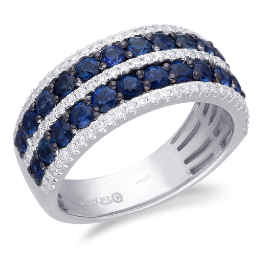 White Gold Sapphire & Diamond Infinite Ring