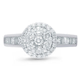 Kallati Legendary Round Halo Diamond Engagement Ring in 14K White Gold