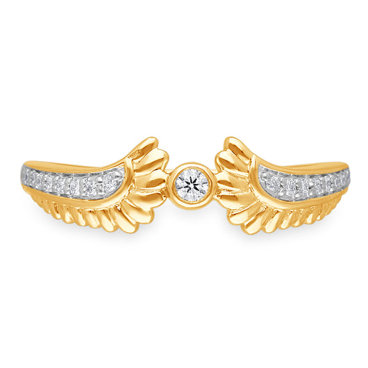 Yellow Gold White Diamond Griffiness Ring