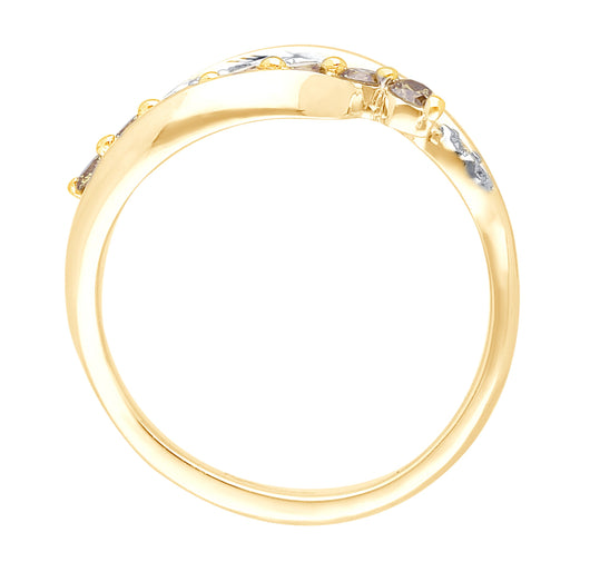 Yellow Gold Yellow and White Diamond Eternal Ring