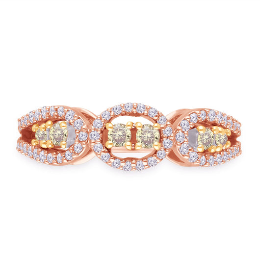 Two Tone Gold Yellow & White Diamond Eternal Ring