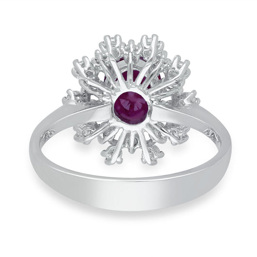 White Gold Ruby & Diamond Heirloom Ring