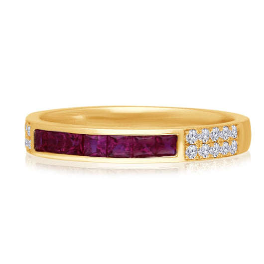 Yellow Gold Ruby & Diamond Heirloom Ring