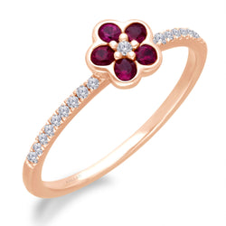 Rose Gold Ruby & Diamond Heirloom Ring