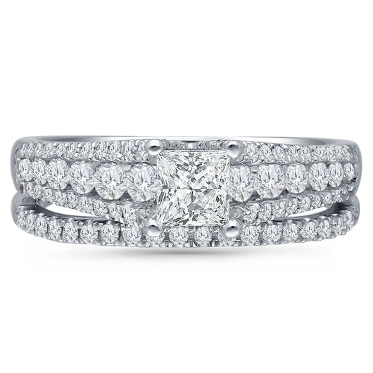 Kallati Eternal Diamond Engagment Ring in 14K White Gold