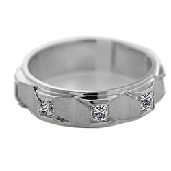 White Gold Diamond Men's Ring