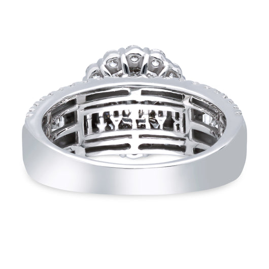 Kallati Legendary Round Halo Diamond Engagement Ring With Matching Band in 14K White Gold