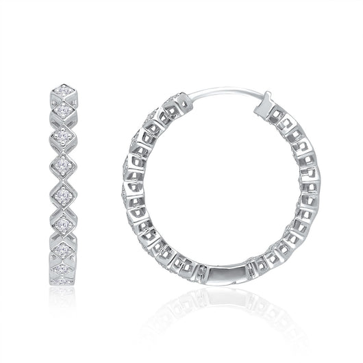 White Gold Diamond Eternal Earrings