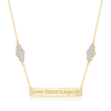 Yellow Gold Live Your Legacy Diamond Eternal Necklace