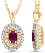 Yellow Gold Ruby & Diamond Heirloom Pendant