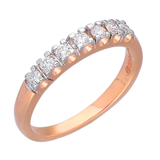 Rose Gold White Diamond Eternal Ring
