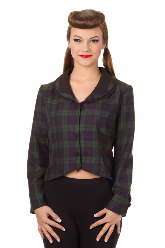 Green Tartan Short Jacket