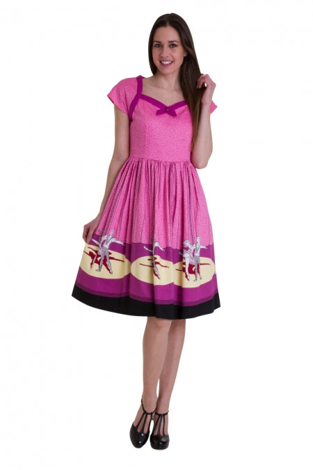 Banned Ballerina Print Swing Dress