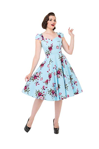 'Royal Ballet' Classic Floral Swing Dress