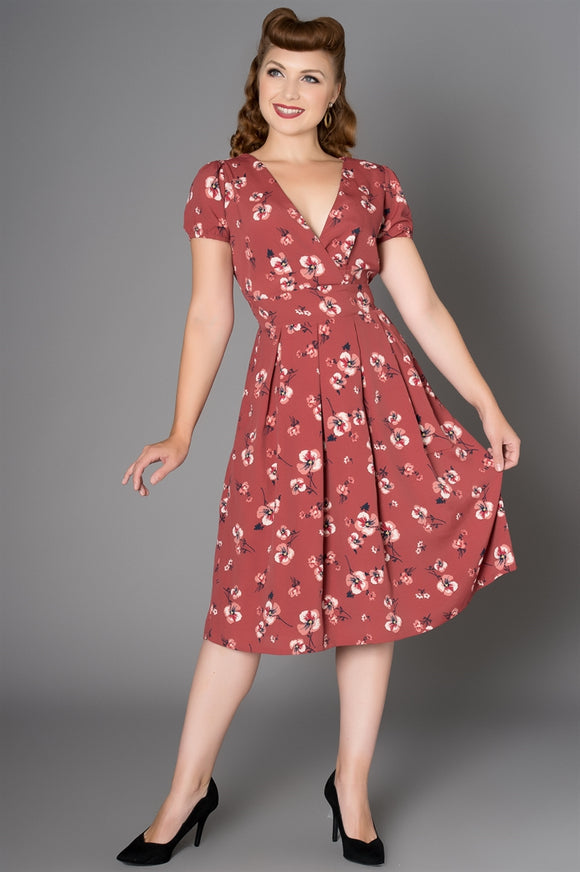 'Flirty Forties' Floral Tea Dress